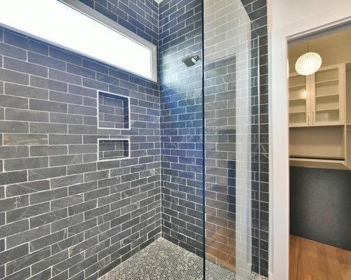 Vasca Da Bagno Di Zinco : Stanza da bagno con top in zinco e piastrelle blu foto idee