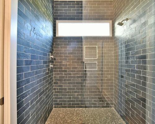 Vasca Da Bagno Di Zinco : Stanza da bagno con top in zinco e piastrelle diamantate foto