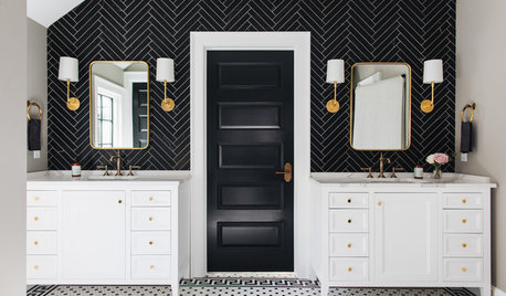 How to Decorate With Black and White in the Bathroom