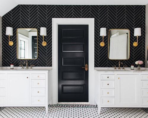 11 best midcentury modern bathroom ideas photos houzz for Huzz house