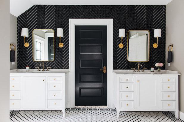 Transitional Bathroom by Kenowa Builders