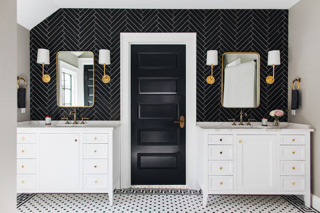 Midcentury Bathroom by Kenowa Builders