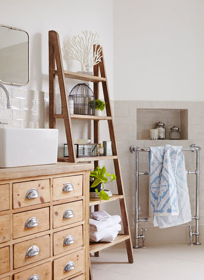 11 budget friendly ways to transform your bathroom - Salle de bain style campagne chic ...