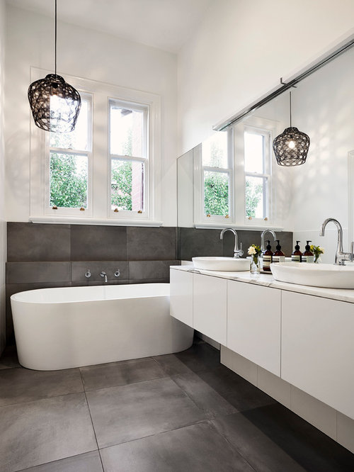 pale grey tile master bathroom home design ideas pictures