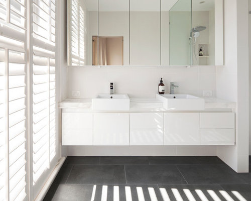 Small modern bathroom design ideas renovations photos Small bathroom design melbourne