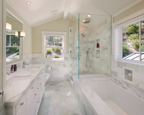 Trough tub houzz for Beautiful washrooms
