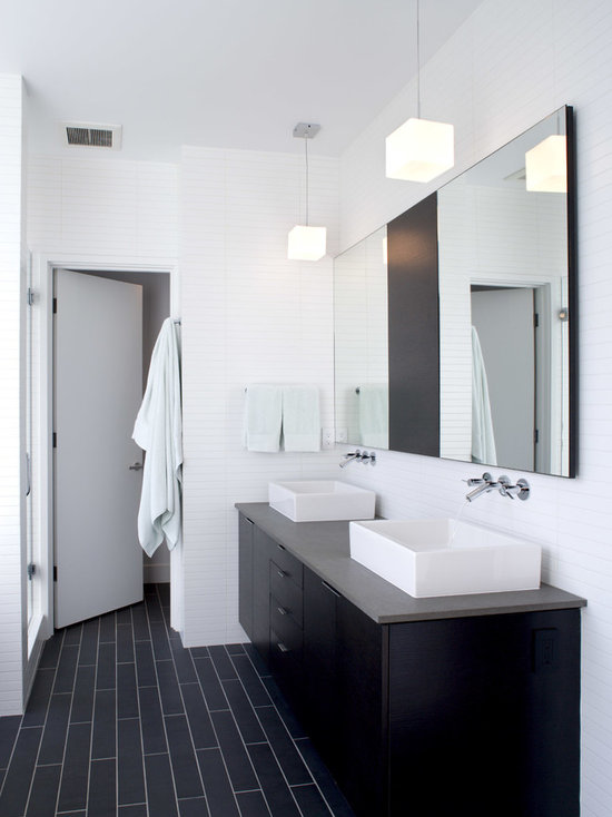 black tile floor houzz 12104