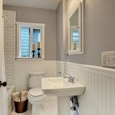 Craftsman Bathroom by HCS Construction