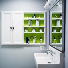 Transitional Bathroom by christie hausmann design