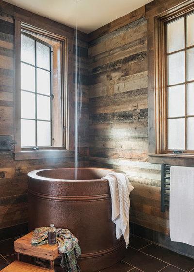 Rustic Bathroom by Samsel Architects