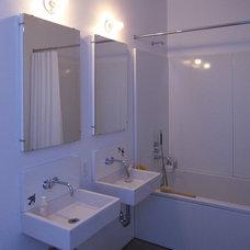 Industrial Bathroom East Village Brownstone