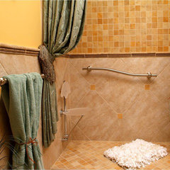 eclectic bathroom by Abbie Sladick