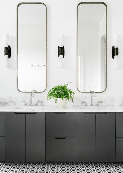 Transitional Bathroom by Cortney Bishop Design