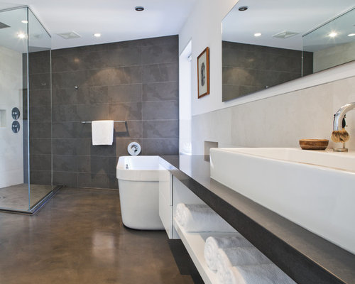 Concrete Bathroom Ideas, Pictures, Remodel and Decor