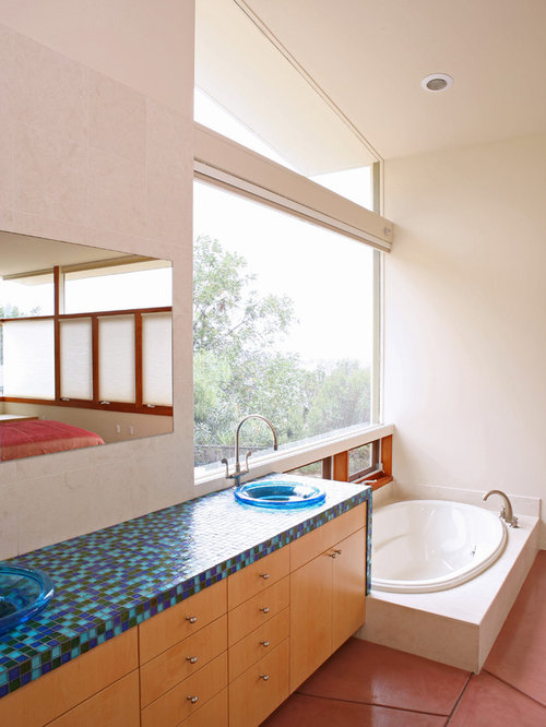Glass Tile Countertops Houzz