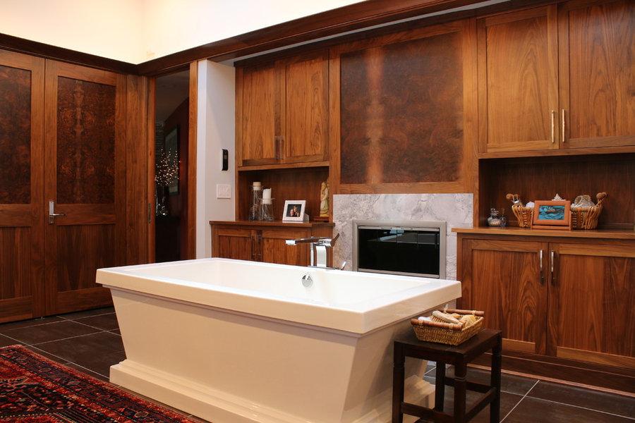 Eclectic Barrington Lake Home Master Bathroom