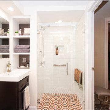 Eclectic Basement Bathroom