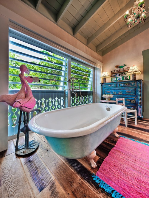 Example Of An Eclectic Claw Foot Bathtub Design In Tampa