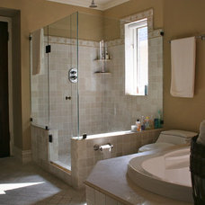 Eclectic Bathroom by catlin stothers design