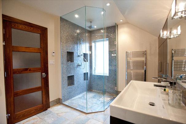 Eclectic Bathroom by Cori Halpern, BAA Int. Des., NCIDQ