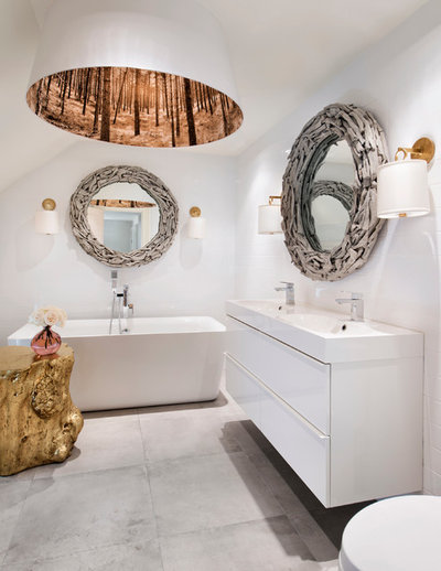 Eclectic Bathroom by Henrietta Southam