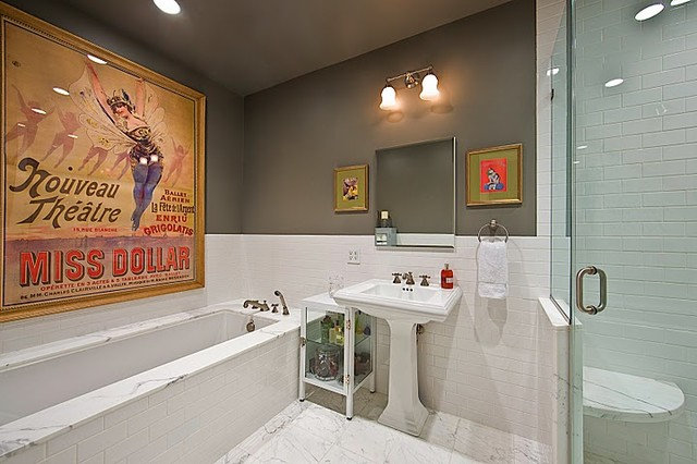Eclectic Bathroom by ABCD Design LLC