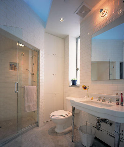 Eclectic Bathroom by James Wagman Architect, LLC