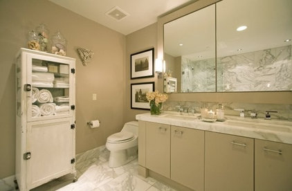 eclectic bathroom by Kari McIntosh Design