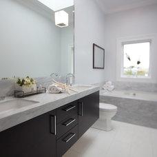 Eclectic Bathroom by Marsh and Clark Design