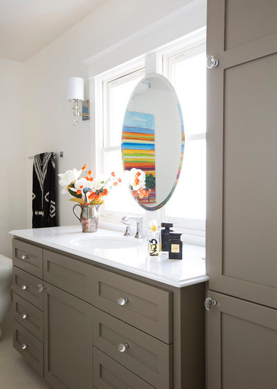 Eclectic Bathroom by PepperJack Interiors