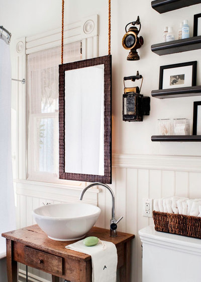 Eclectic Bathroom by Antonio Martins Interior Design. Bathroom Workbook  The Right Height for Your Sinks  Mirrors and More