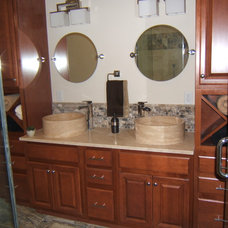Eclectic Bathroom by StoneMar Natural Stone Company LLC