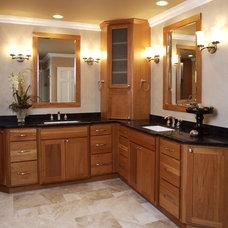 Eclectic Bathroom by Susan Brunstrum of SWEET PEAS DESIGN INC