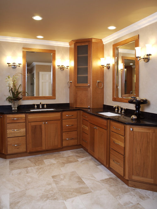 Corner double vanity ideas pictures remodel and decor Corner cabinet small bathroom