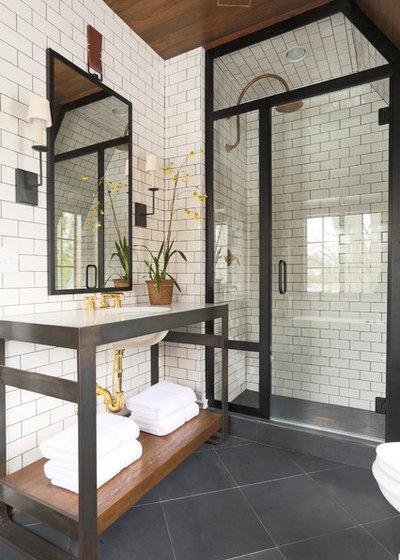 Classique Chic Salle de Bain Eclectic Bathroom