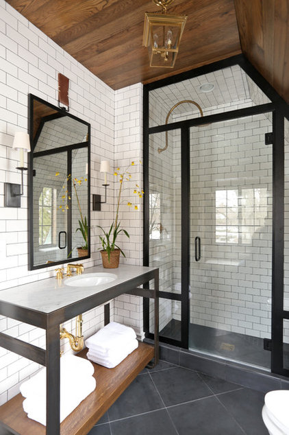 Transitional Bathroom Eclectic Bathroom