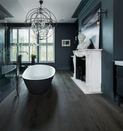 Eclectic Bathroom by The New & Reclaimed Flooring Company