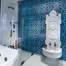 Eclectic Bathroom by NewZeugma Custom Luxury Mosaics and Iznik Tiles