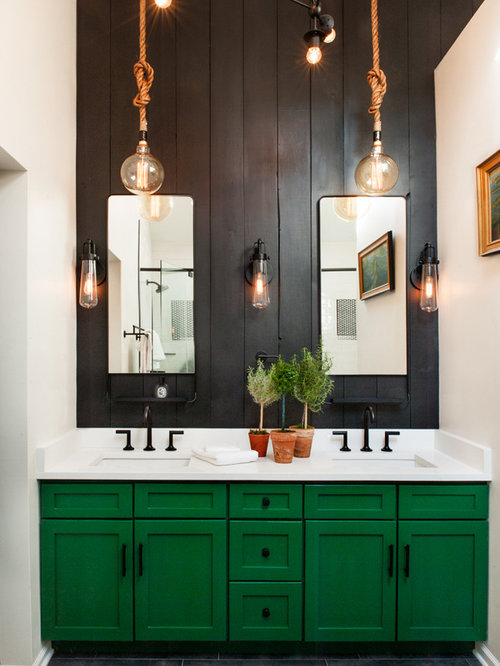 Image result for eclectic green bathroom