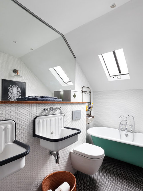 Photo Of A Small Traditional Family Bathroom In London With A Freestanding Bath A Shower Save Photo