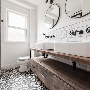 Inspiration for an industrial bathroom remodel in DC Metro
