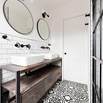 Eclectic Industrial Bathroom Remodel
