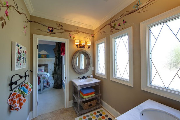 Traditional Bathroom by Kerri Robusto Interiors