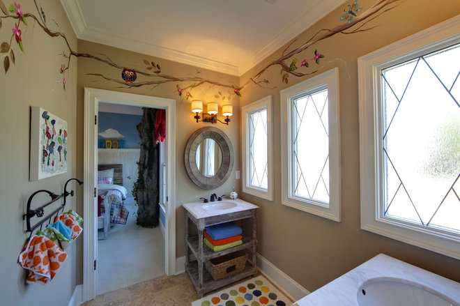 Eclectic Bathroom by Kerri Robusto Interiors