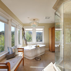 Transitional Bathroom by Donnah Miles Interiors