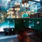 Modern gray bathroom remodel eclectic bathroom los - Discount bathroom vanities los angeles ...