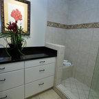 Andersonville Marble Bathroom Eclectic Bathroom