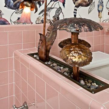 Eclectic Retro Bath
