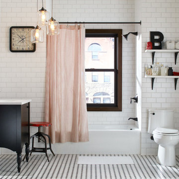Eclectic Small Bathroom