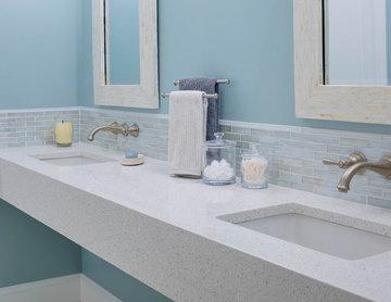 Eco White Diamond Wall Mount Vanity